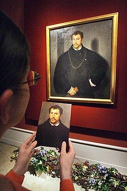 Портрет неизвестного с серыми глазами. Тициан
